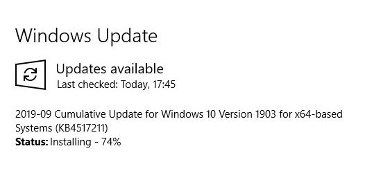 การตรวจสอบ Windows Update