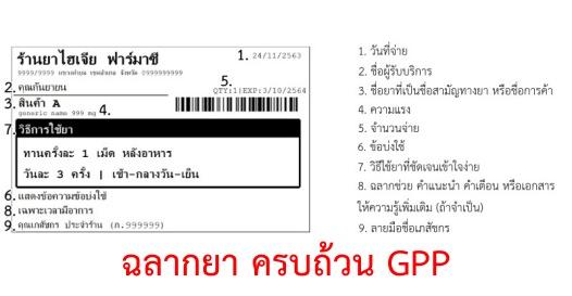สร้าง / พิมพ์ สติกเกอร์ฉลากยา | GPP