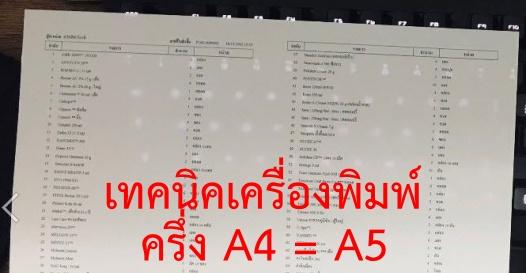 เทคนิคสั่งพิมพ์เอกสาร แบ่งครึ่ง A4 จะได้ A5